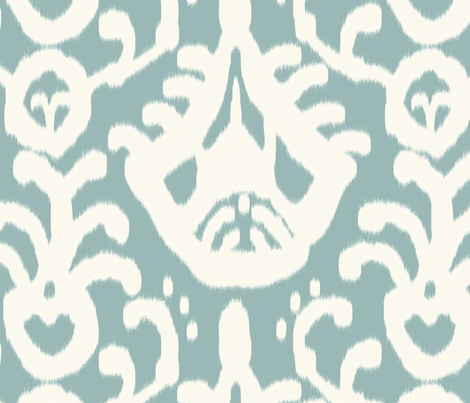 French Blue Ikat fabric by domesticate on Spoonflower - custom fabric
