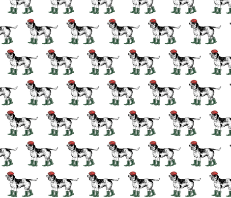 Beagle_du_nordwelliehat fabric by ragan on Spoonflower - custom fabric