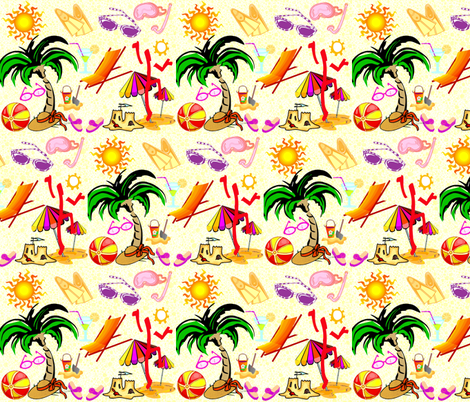 BEACH BUM fabric by bluevelvet on Spoonflower - custom fabric