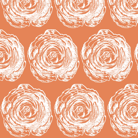 Hometown Ranunculus fabric by lesliebedell on Spoonflower - custom fabric