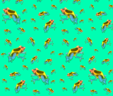 Poison Dart Frogs1 fabric by swirlscape on Spoonflower - custom fabric