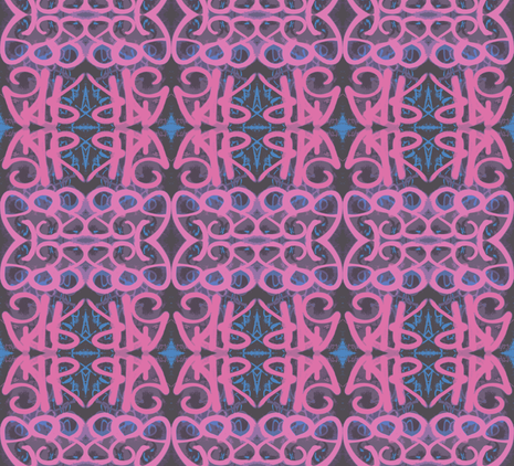 Rhapsody in Pink and Blue fabric by susaninparis on Spoonflower - custom fabric