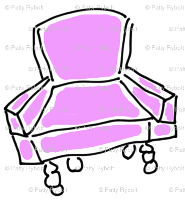 Modern Chair For The Retro Girl! (pink)