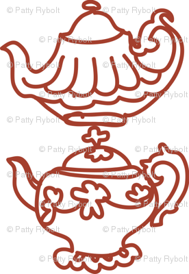 Teapots (red)