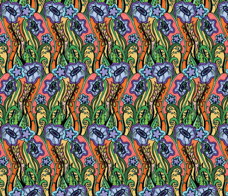 Grassflowers fabric by periwinklepaisley on Spoonflower - custom fabric