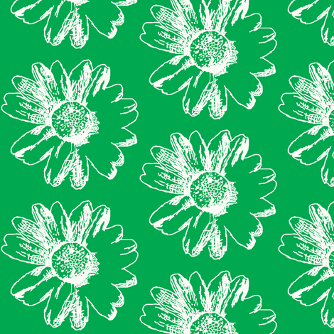 Hometown Daisy fabric by lesliebedell on Spoonflower - custom fabric