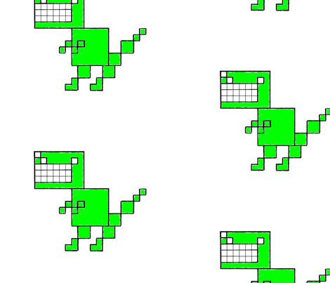 t-rex fabric by hotel_radio on Spoonflower - custom fabric
