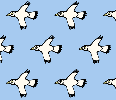 bird fabric by hotel_radio on Spoonflower - custom fabric