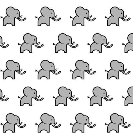 Small Cute Elephant fabric by mandollyn on Spoonflower - custom fabric