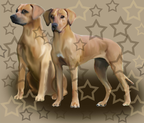 Rhodesan ridgeback three fabric by dogdaze_ on Spoonflower - custom fabric