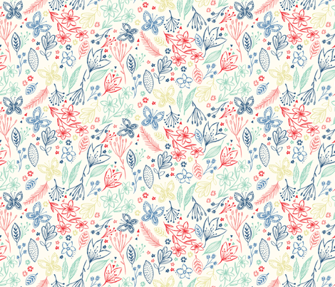 pretty nature fabric by bethan_janine on Spoonflower - custom fabric