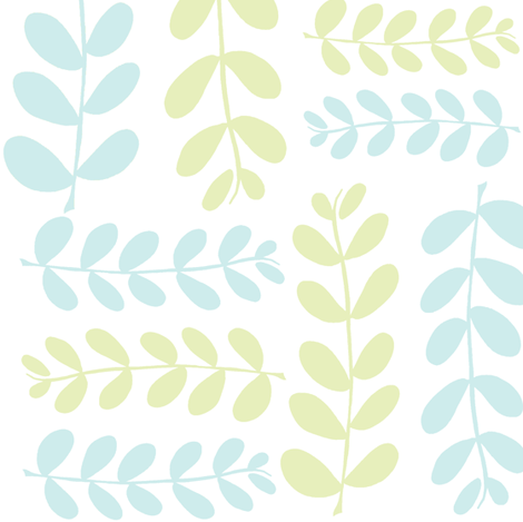Olive Branches 2 (lt. lime, lt. aqua & white) fabric by pattyryboltdesigns on Spoonflower - custom fabric