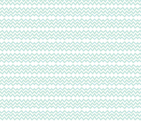 Zig Zag (light aqua & blue) fabric by pattyryboltdesigns on Spoonflower - custom fabric