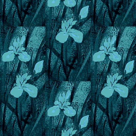 Blush Orchids dark water fabric by paragonstudios on Spoonflower - custom fabric