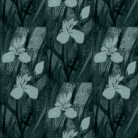 Blush Orchids gun smoke fabric by paragonstudios on Spoonflower - custom fabric