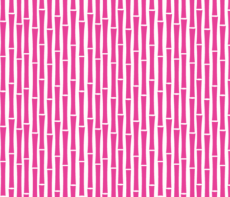 Bamboo Too (Fucshia) fabric by blackpomegranate on Spoonflower - custom fabric