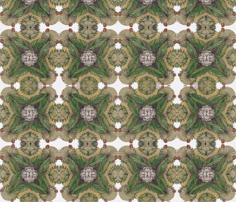 mandala in green fabric by fallingladies on Spoonflower - custom fabric