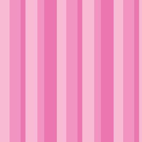 Beanie Pink Stripe fabric by shelleymade on Spoonflower - custom fabric