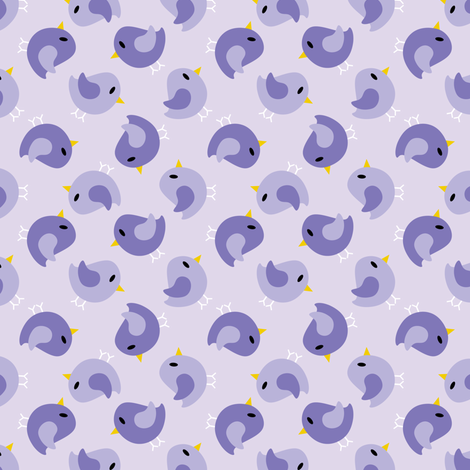 Beanie Purple Birds fabric by shelleymade on Spoonflower - custom fabric