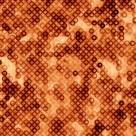 ditsy pumpkin fabric by paragonstudios on Spoonflower - custom fabric