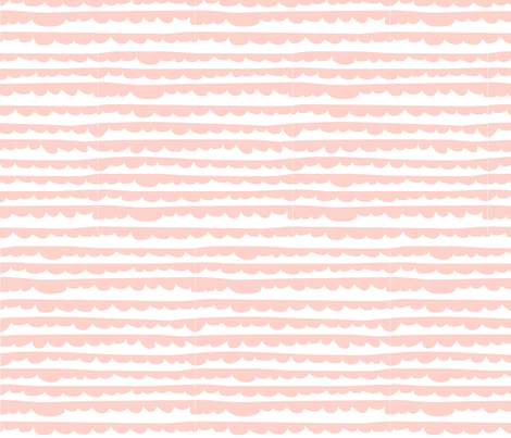 Sleepy Frillows in Pink fabric by icingonthepaper on Spoonflower - custom fabric