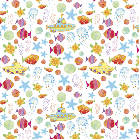 Under the Sea | alexcolombo.com fabric by studioalex on Spoonflower - custom fabric