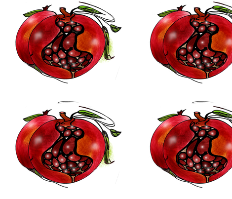 10pomegranite-ed fabric by mandybeau on Spoonflower - custom fabric