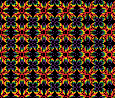 Rainbow Hoops fabric by jjtrends on Spoonflower - custom fabric