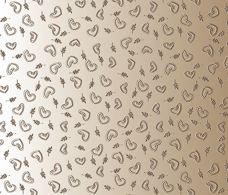 Bronze Love (Please view at all widths for full effect) fabric by inscribed_here on Spoonflower - custom fabric