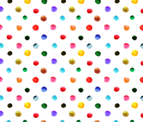 pois_d_aquarelle_L fabric by nadja_petremand on Spoonflower - custom fabric