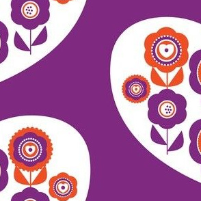 graphic flower heart purple