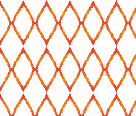 Orange Ikat V fabric by megankaydesign on Spoonflower - custom fabric