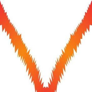 Orange Ikat V