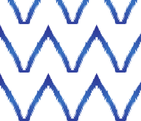 Blue Ikat Chevron