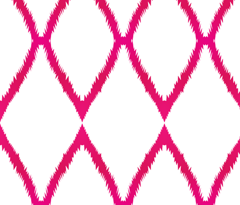 Pink Ikat Chevron fabric by megankaydesign on Spoonflower - custom fabric