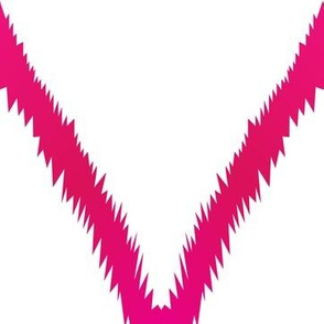 Pink Ikat Chevron