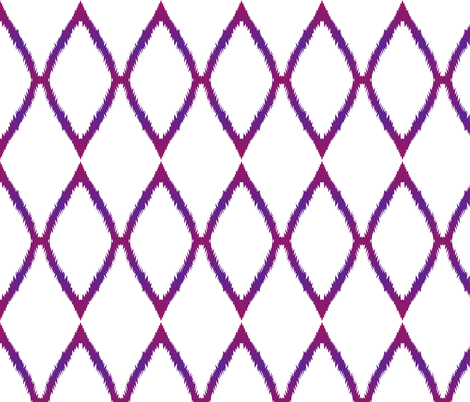 Purple Ikat Chevron
