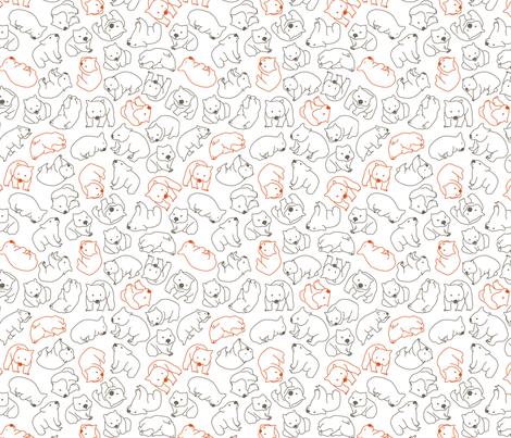 wombats fabric by einekleinedesignstudio on Spoonflower - custom fabric