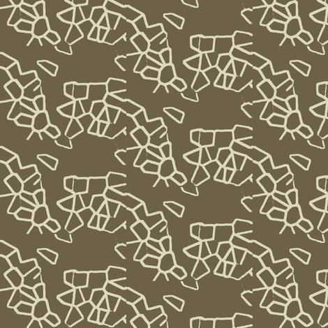 Crystal Split Mud Linen fabric by marie_s on Spoonflower - custom fabric