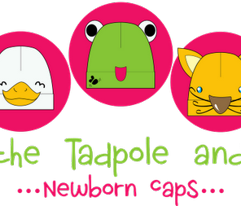 Rin-Rin the Tadpole and Friends Newborn Caps (Ready-to-Sew kit)