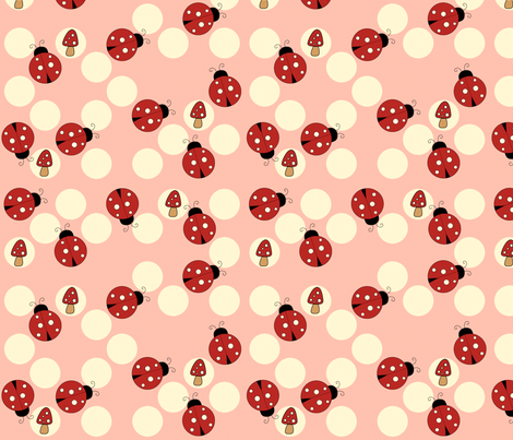 Spot the Ladybug fabric by anikabee on Spoonflower - custom fabric