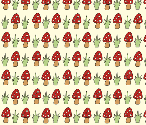 Mushy Grass fabric by anikabee on Spoonflower - custom fabric