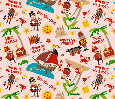 Pirates fabric by edmillerdesign on Spoonflower - custom fabric