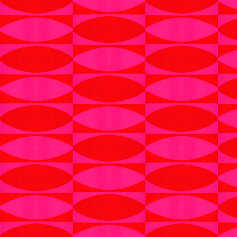 Retro Pink & Red fabric by stoflab on Spoonflower - custom fabric