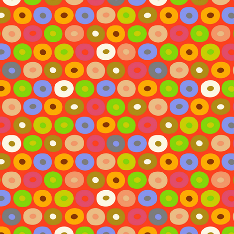 felt monkey polka fabric by scrummy on Spoonflower - custom fabric