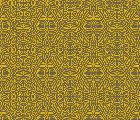 Drawing Gold Mud fabric by marie_s on Spoonflower - custom fabric