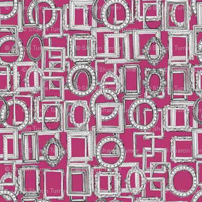picture frames aplenty pink