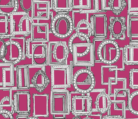 picture frames aplenty pink fabric by scrummy on Spoonflower - custom fabric