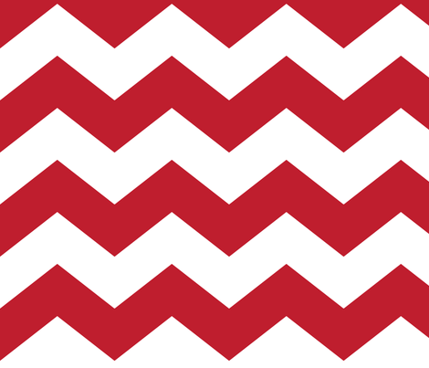 chevron lg red and white fabric by misstiina on Spoonflower - custom fabric