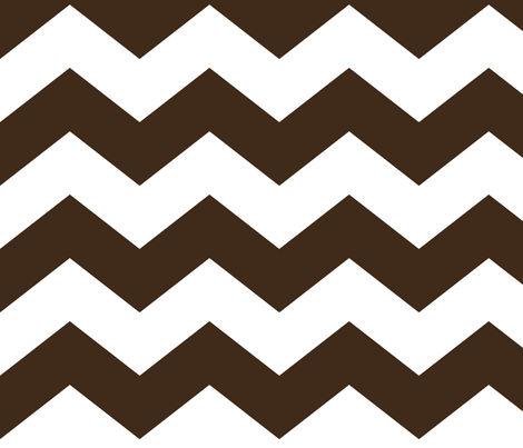 chevron lg brown and white fabric by misstiina on Spoonflower - custom fabric